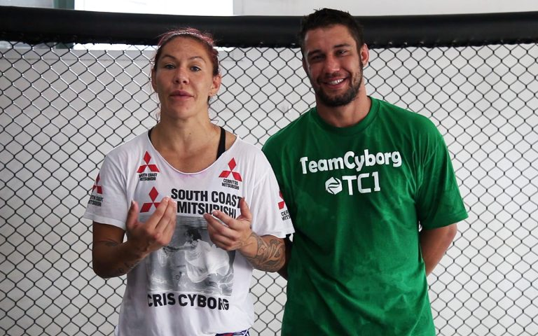 A still from our work with the UFC and Cris Cyborg on her social media video