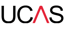 A logo of UCAS, a client of Astery