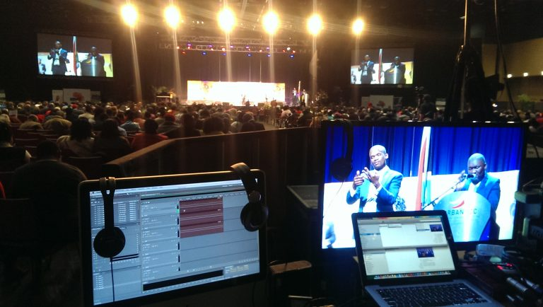 A behind the scene photo of an event video done in South Africa