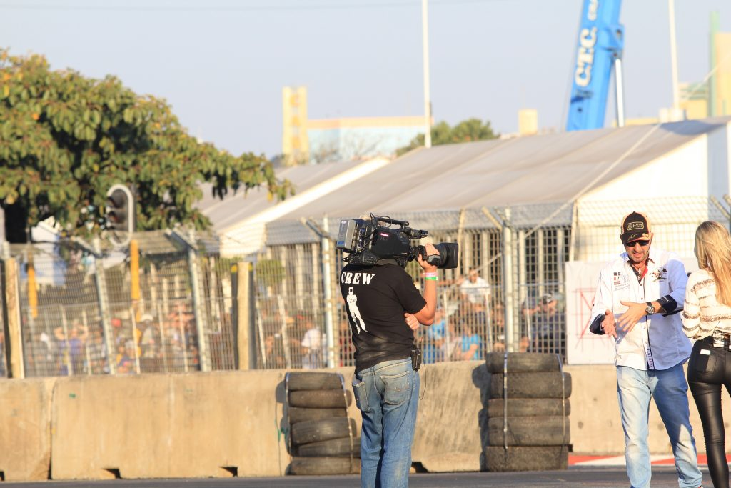 Image of a camera operator filming top gear live